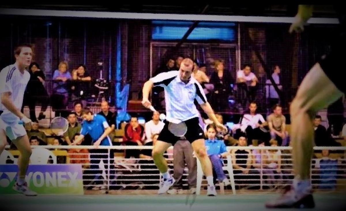 Coach Frank plays Badminton